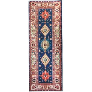 "RUGGABLE Washable Indoor/ Outdoor Stain Resistant Runner Rug Noor Sapphire (2.5' x 7') - 2'6"" x 7'
