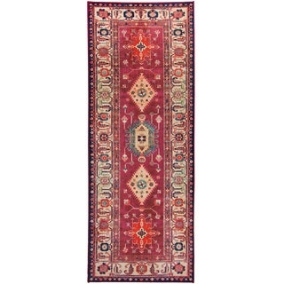 "RUGGABLE Washable Indoor/Outdoor Stain Resistant Runner Rug Noor Ruby (2'6"" x 7')"
