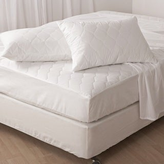 Antibacterial 230 Thread Count Mattress Pad - White