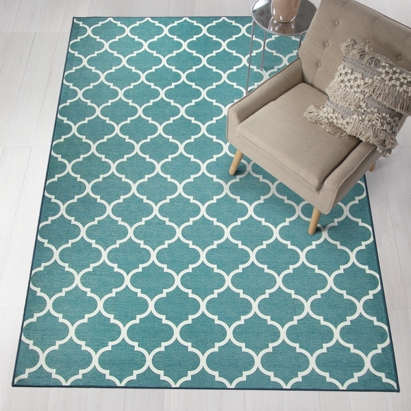 Dog Proof Throw Rugs: Shop RUGGABLE Washable Stain Resistant Runner Rug Moroccan