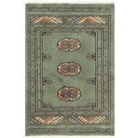 Herat Oriental Pakistani Hand-knotted Bokhara Wool Rug (2' x 3')