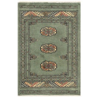 Handmade Herat Oriental Pakistani Bokhara Wool Rug - 2' x 3' (Pakistan)