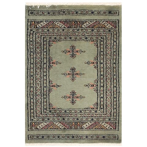 Handmade One-of-a-Kind Bokhara Wool Rug (Pakistan) - 2' x 2'9