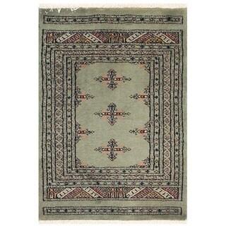 Herat Oriental Pakistani Hand-knotted Bokhara Wool Rug (2' x 2'9)
