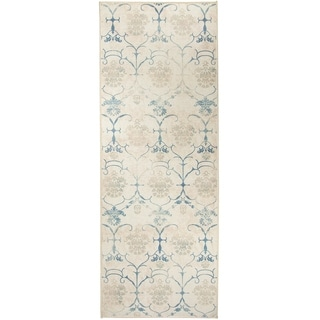 RUGGABLE Washable Indoor/Outdoor Stain Resistant Runner Rug Leyla Creme Vintage