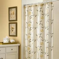"Croscill Penelope 72""x75"" Floral Shower Curtain - Off-White"