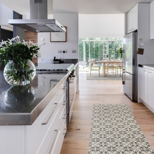 Shop RUGGABLE Washable Stain Resistant Runner Rug Floral Tiles Rich on 7 x 12 kitchen design, 7 x 10 kitchen design, 7 x 9 kitchen design, 6 x 10 kitchen design,