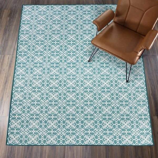 Shop Ruggable Washable Stain Resistant Runner Rug Floral