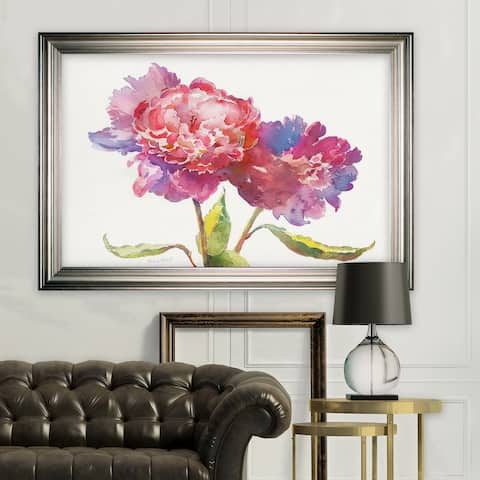 Prize Peonies I -Silver Frame