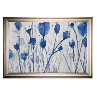 Blue Day Garden -Silver Frame