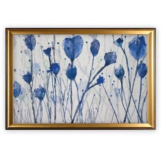 Blue Day Garden - Gold Frame