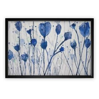Blue Day Garden - Black Frame