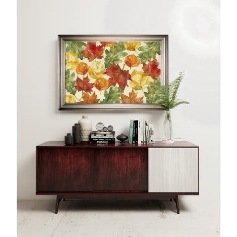Autumn Leaves -Silver Frame