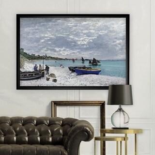 The-Beach -Claude Monet - Black Frame