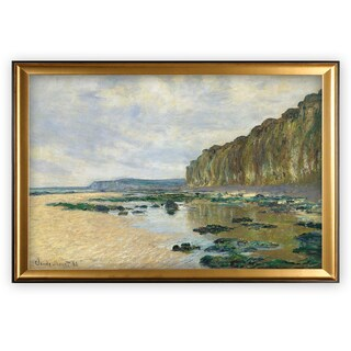 Cliff-at-Pourville -Claude Monet - Gold Frame