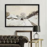 Cart-on-Road -Claude Monet - Black Frame