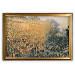 Carnaval-Boulevard -Claude Monet - Gold Frame
