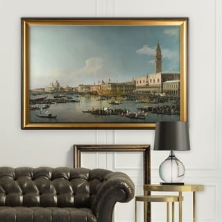 Venice-The-Basin -by CANALETTO - Gold Frame