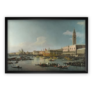 Venice-The-Basin -by CANALETTO - Black Frame
