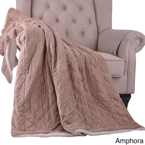 BOON Aurora Embroidery Reversible Sherpa Throw