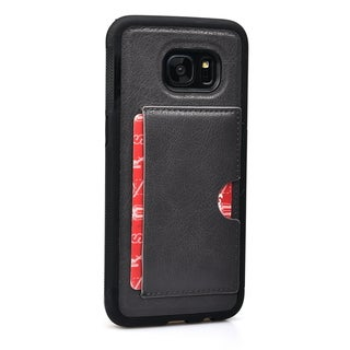 Slim TPU and Synthetic Leather Card Case for Samsung Galaxy S7 Edge