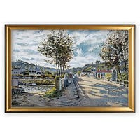 The Bridge at Bougival, - Gold Frame