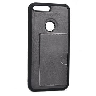 Slim TPU and Synthetic Leather Card Case for Google Pixel XL (5.5 Inch)