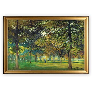 The Alley of Champ de Foire - Gold Frame
