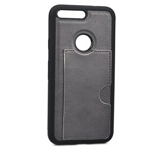 Slim TPU and Synthetic Leather Card Case for Google Pixel (5 Inch)