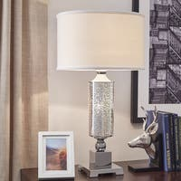Galaxy LED Starburst Chrome Pedestal Table Lamp by iNSPIRE Q Bold