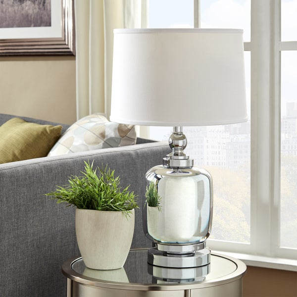 Galaxy LED Starburst Chrome Urn Table Lamp by iNSPIRE Q Bold