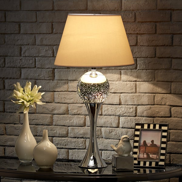 Galaxy LED Starburst Chrome Small Orb Table Lamp by iNSPIRE Q Bold