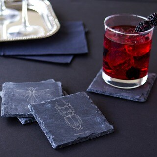 Halloween Insect Slate Coasters (Set of 4)