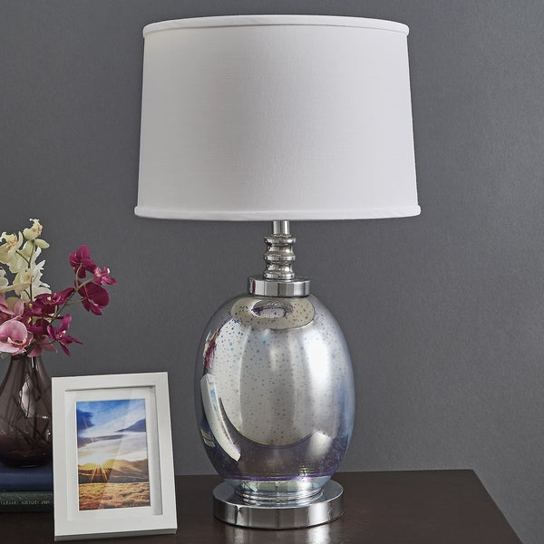Galaxy LED Starburst Chrome Oval Table Lamp by iNSPIRE Q Bold