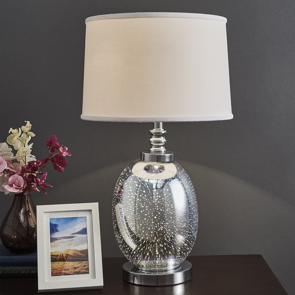 Shop Galaxy LED Starburst Chrome Oval Table Lamp by iNSPIRE