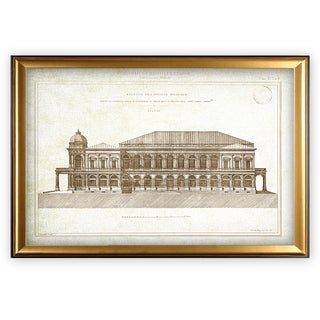 Architecture Sketch II - Gold Frame