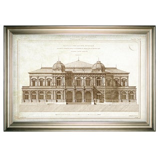 Architecture Sketch I -Silver Frame