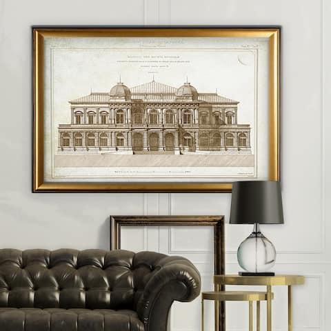 Architecture Sketch I - Gold Frame