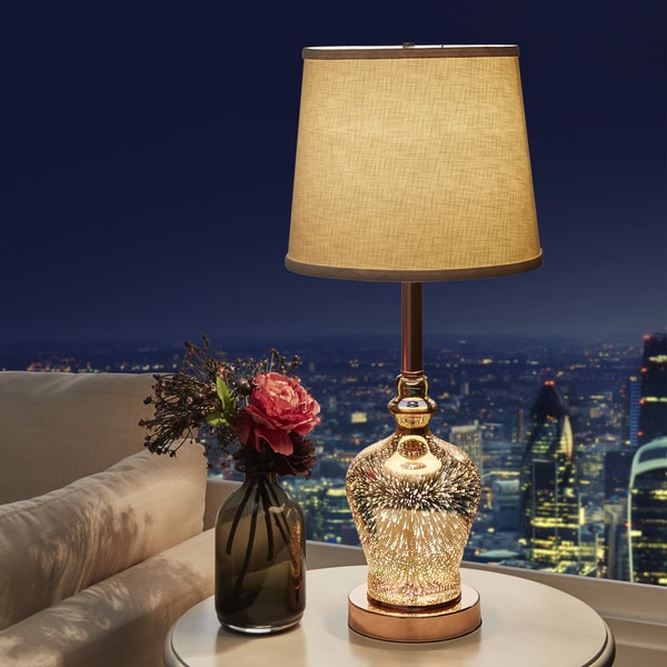 Galaxy LED Starburst Copper Gourd Table Lamp by iNSPIRE Q Bold