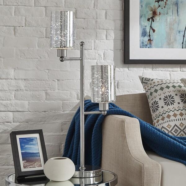 Gemini Starburst Chrome Table Lamp by iNSPIRE Q Bold