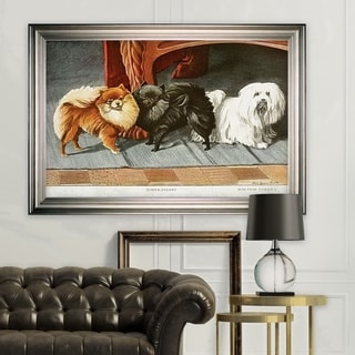 Canine Drawing I -Silver Frame