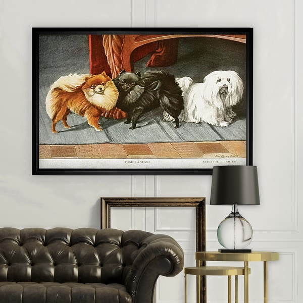 Canine Drawing I - Black Frame