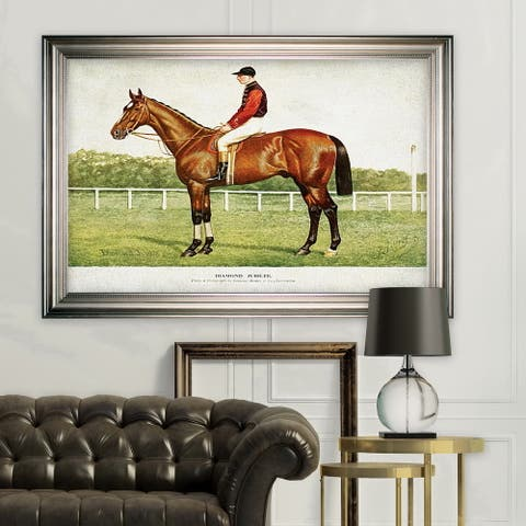 Equine Horse Drawing III -Silver Frame