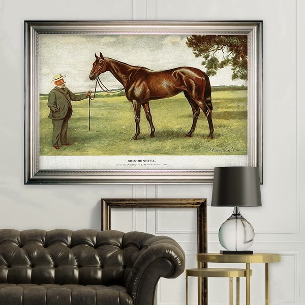 Equine Horse Drawing II -Silver Frame. Opens flyout.