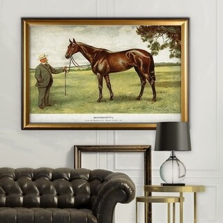 Equine Drawing II - Gold Frame