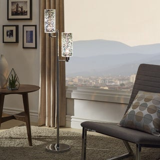 Gemini Starburst Chrome Floor Lamp by iNSPIRE Q Bold