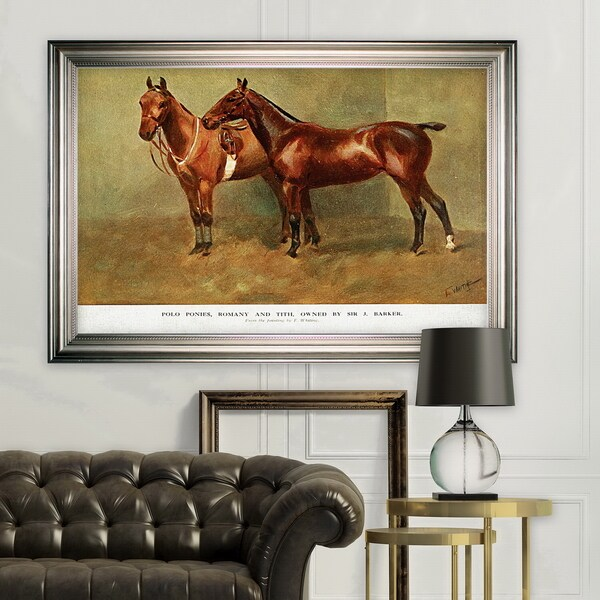 Equine Sketch XXVI -Silver Frame. Opens flyout.