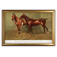 Equine Sketch XXVI - Gold Frame