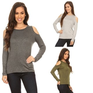 Sexy Cold Shoulder Top, Easy to Match Casual Style