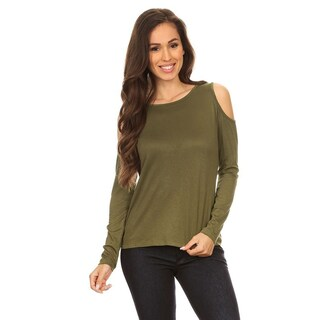 Sexy Cold Shoulder Top, Easy to Match Casual Style (More options available)